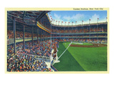 New York, New York - Yankee Stadium Interior View Poster van  Lantern Press
