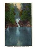 Blue Ridge Mountains, North Carolina - The Narrows Kunstdrucke von  Lantern Press