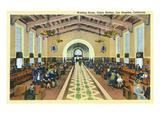 Los Angeles, California - Union Station Interior View of Waiting Room Pôsters por  Lantern Press