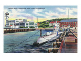 Groton, Connecticut - General View of the Submarine Base Poster by  Lantern Press