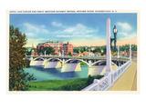 Schenectady, New York - Hotel Van Curler from Mohawk River Bridge Kunstdrucke von  Lantern Press