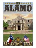The Alamo Morning Scene - San Antonio, Texas Prints by  Lantern Press