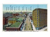 Denver, Colorado - View Down 17th Street Showing Brown Palace Hotel Kunstdrucke von  Lantern Press