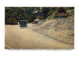 Sideling Hill Mountain, Maryland - National Road Between Cumberland and Hagerstown Poster van  Lantern Press