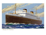 View of Cunard Ocean Liner Britannic Posters by  Lantern Press