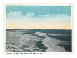 Old Orchard Beach, Maine - View of Surf Kunstdrucke von  Lantern Press