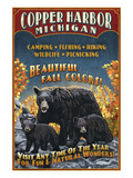 Copper Harbor, Michigan - Black Bears Affiches par  Lantern Press