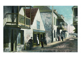 St. Augustine, Florida - View Down Charlotte Street Posters by  Lantern Press
