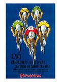 Werbung für Fahrradrennen Kunst von  Lantern Press