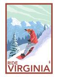 Virginia - Snowboarder Scene Posters by  Lantern Press
