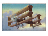 View of the A V Roe Triplane Print by  Lantern Press