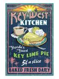 Key West, Florida - Key Lime Pie Kunstdrucke von  Lantern Press
