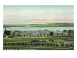 St. Augustine, Florida - Panoramic View of Fort Marion Poster von  Lantern Press