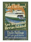 Orcas Island, Washington - Ferry Ride Premium Giclee Print by  Lantern Press