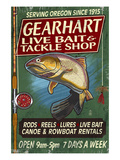 Bait and Tackle Shop Trout -Gearhart, Oregon Poster by  Lantern Press