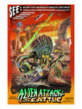 Seattle Alien Attack Prints by  Lantern Press