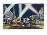 Hollywood, California - Hollywood Boulevard at Night Prints by  Lantern Press