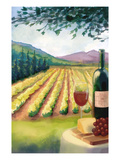 Wine Country and Vineyard Poster von  Lantern Press