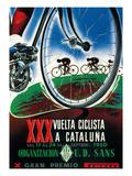 Cykeltävlingsreklam Poster av  Lantern Press