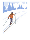 Cross Country Skier Stylized Prints by  Lantern Press