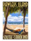 Pawleys Island, South Carolina - Palms and Hammock Kunstdrucke von  Lantern Press
