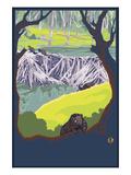 Beaver Family Lámina giclée prémium por  Lantern Press