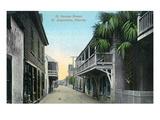 St. Augustine, Florida - St. George Street Scene Kunst van  Lantern Press
