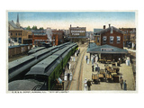 Aurora, Illinois - Chicago, Burlington, and Quincy Railroad Depot Kunst van  Lantern Press