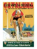 Reklame for cykelløb, på italiensk Posters af  Lantern Press