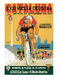 Cartel de carrera ciclista Pósters por  Lantern Press