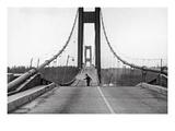 Tacoma, Washington - November 7, 1940 - Tacoma Narrows Bridge - Man on Bridge Prints by  Lantern Press
