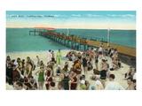 Clearwater, Florida - View of City Pier from Beach Poster von  Lantern Press