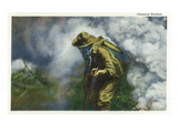 US Army - Soldier in Gas Mask, Chemical Warfare Poster van  Lantern Press