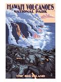 The Big Island, Hawaii - Lava Flow Scene Posters by  Lantern Press