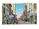 Knoxville, Tennessee - Northern View Up Gay Street Poster von  Lantern Press