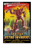Seattle vs. Astro Invaders Posters by  Lantern Press