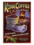 Kona Coffee - Hawaii 高画質プリント : ランターン・プレス