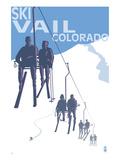 Vail, CO - Ski Lift Posters by  Lantern Press