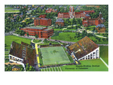 Knoxville, Tennessee - University of Tennessee, Aerial View of the Shields-Watkins Stadium Poster von  Lantern Press