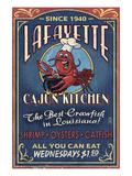 Lafayette, Louisiana - Cajun Kitchen Prints by  Lantern Press