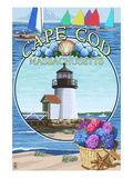Cape Cod, Massachusetts - Montage Posters par  Lantern Press