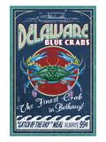 Bethany, Delaware Blue Crabs Poster von  Lantern Press