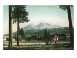 Sisson, California - View of Mt Shasta, Now Mt Shasta City Stampe di  Lantern Press