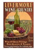 Livermore, California - Wine Poster von  Lantern Press