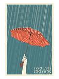 Portland, Oregon - Umbrella Posters by  Lantern Press