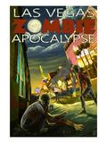 Las Vegas, Nevada - Zombie Apocolypse Posters by  Lantern Press