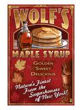 Wolf's Maple Syrup - New York Poster par  Lantern Press