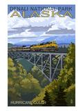 Denali National Park, Alaska - Hurricane Gulch Posters par  Lantern Press