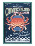 Camano Island, Washington - Dungeness Crab Plakater af  Lantern Press