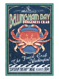 Bellingham, Washington - Dungeness Crab Plakater af  Lantern Press
